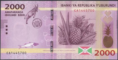 Picture of Burundi,P52,B238a,2000 Francs,2015