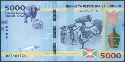 Picture of Burundi,P53,B239a,5000 Francs,2015