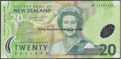 Picture of New Zealand,P187,B133g,20 Dollars,2013