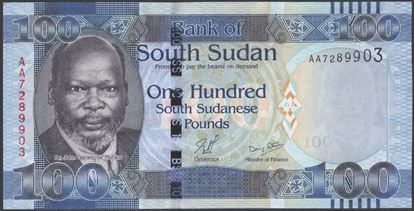Picture of South Sudan,P10a,B106a,100 Pounds,2011