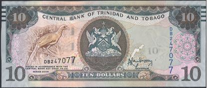 Picture of Trinidad & Tobago,P55,B231,10 Dollars,2006