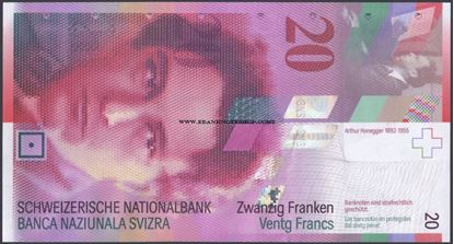 Picture of Switzerland,P69,20 Francs,2014