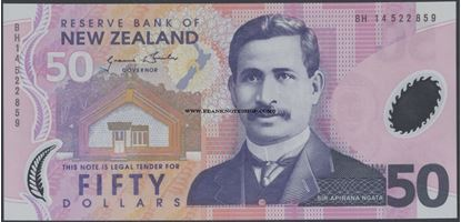 Picture of New Zealand,P188,B134f,50 Dollars,2014