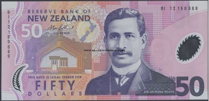 Picture of New Zealand,P188,B134e,50 Dollars,2012
