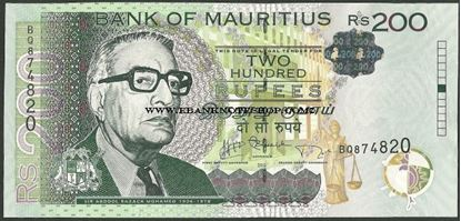 Picture of Mauritius,P61,B427b,200 Rupees,2013