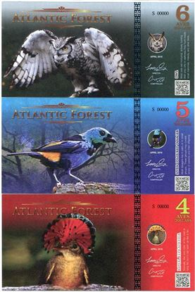 Picture of Atlantic Forest,4/5/6 Aves SET,2016