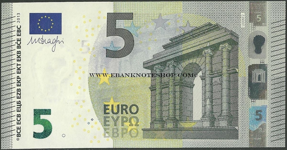 ebanknoteshop euro p20 b108u3 france 5 euros 2013. Black Bedroom Furniture Sets. Home Design Ideas