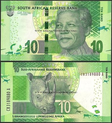 Picture of South Africa,P138,B767a,10 Rands
