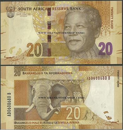 Picture of South Africa,P134,B763a,20 Rands