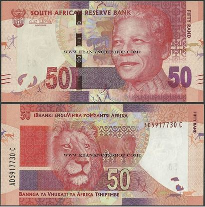 Picture of South Africa,P135,B764a,50 Rands