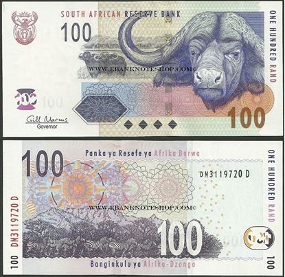 Picture of South Africa,P131,B760b,100 Rands