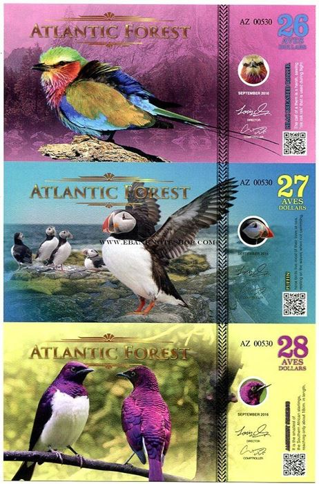 Atlantic Forest 2 Aves Dollar 2016 Macaw