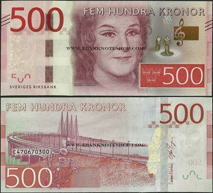 Picture of Sweden,P73,B158b,500 Kroner,2016