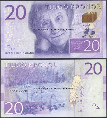 Picture of Sweden,P69,20 Kroner,2015