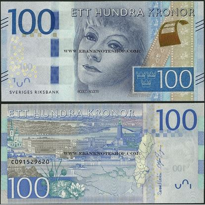 Picture of Sweden,P71,100 Kroner,2016