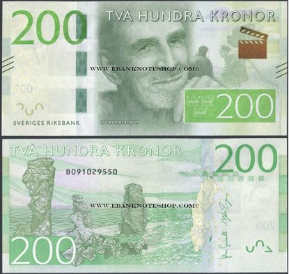Picture of Sweden,P72,200 Kroner,2015