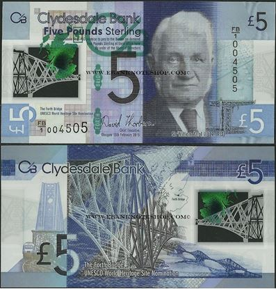 Picture of Scotland,P229N,5 Pounds,2015,Clydesdale,Polymer,Comm