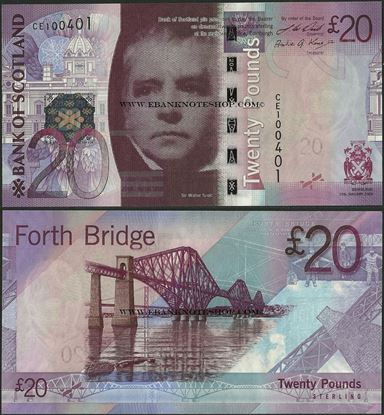 Picture of Scotland,P126,20 Pounds,2009,BoS
