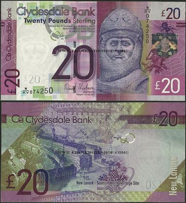 Picture of Scotland,P229K,20 Pounds,2013,Clydesdale