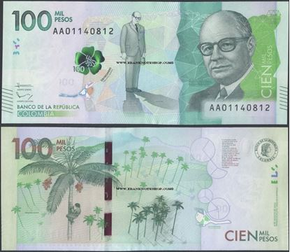 Picture of Colombia,P463a,100 000 Pesos,2015,AA