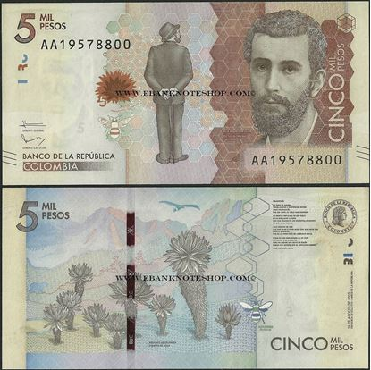 Picture of Colombia,P459a,5000 Pesos,2015,AA