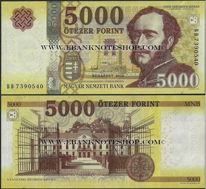 Picture of Hungary,B205,B590a,5000 Forint,2016