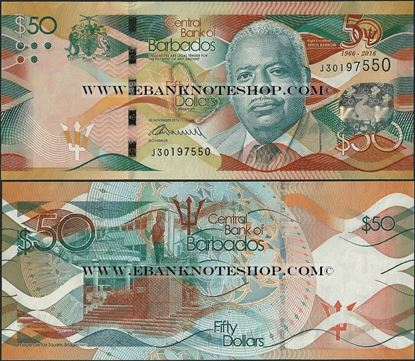 Picture of Barbados,B238,50 Dollars,2016,Comm