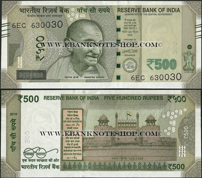 Picture of India,P114,B303a,500 Rupees,2016