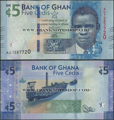 Picture of Ghana,B153,5 Cedis,2017,Comm