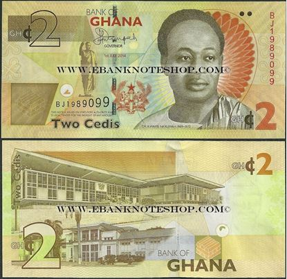 Picture of Ghana,B152b,2 Cedi,2014