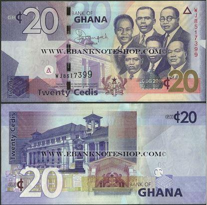 Picture of Ghana,P40f, B148f,20 Cedi,2015
