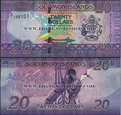 Picture of Solomon Islands,P34,B223,20 Dollars,2017