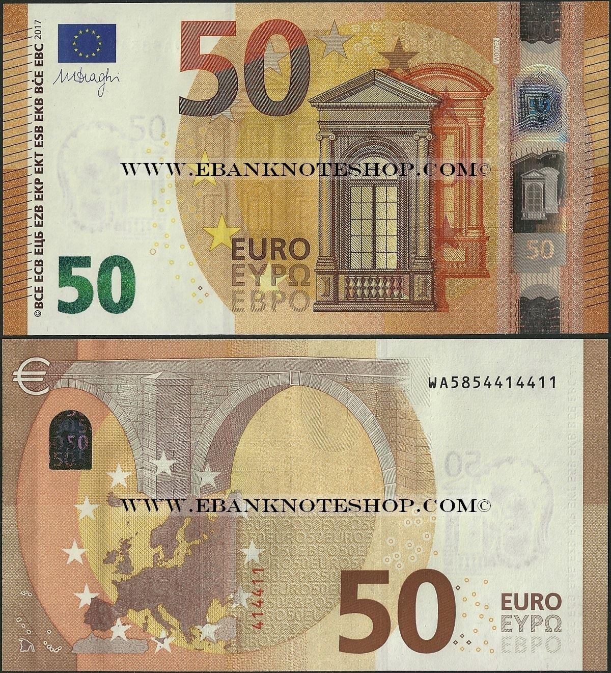 ebanknoteshop euro p23 b111w3 germany 50 euros 2017. Black Bedroom Furniture Sets. Home Design Ideas