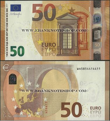 Picture of Euro - P23,B111w3,Germany,50 Euros,2017