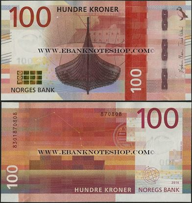 Picture of Norway,P54,B658,100 Kroner,2017