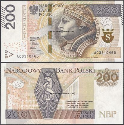 Picture of Poland,P189,B863,200 Zloty,2015(In 2016)