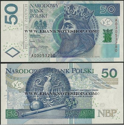 Picture of Poland,P185,B861,50 Zloty,2012(In 2014)