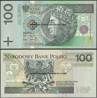 Picture of Poland,P176b,B857b,100 Zloty,1994