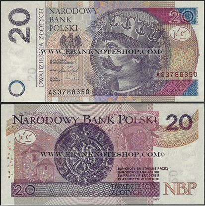Picture of Poland,P184b,B860b,20 Zloty,2012(In 2014)