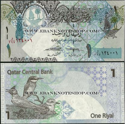 Picture of Qatar,P28,B215b,1 Riyals,2008(In 2015)