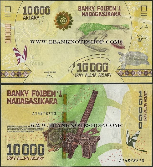 Picture of Madagascar,B338,10 000 Ariary,2017