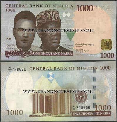 Picture of Nigeria,P36,B229m,1000 Naira,2016