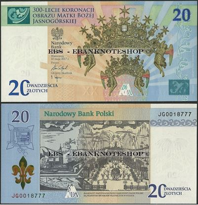 Picture of Poland,PNew,BNP821,20 Zloty,2017,Comm