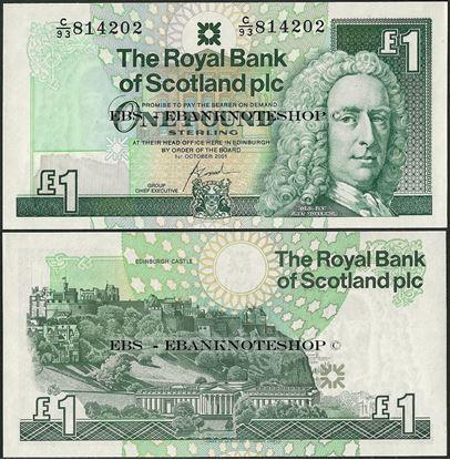 Picture of Scotland,P351e,1 Pound,2001,RBS