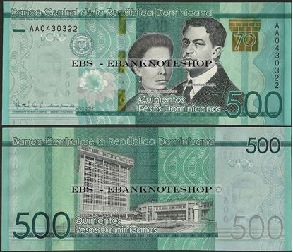 Picture of Dominican Republic,PNew,B726,500 Pesos,2017,Comm