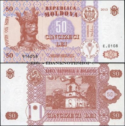 Picture of Moldova,P14,B112a,50 Lei,2013