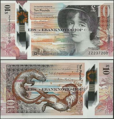 Picture of Scotland,10 Pounds,2017,RBS,Polymer,Replacement