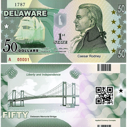 Picture of US State Dollar,1st state ,Delaware,50 State Dollars