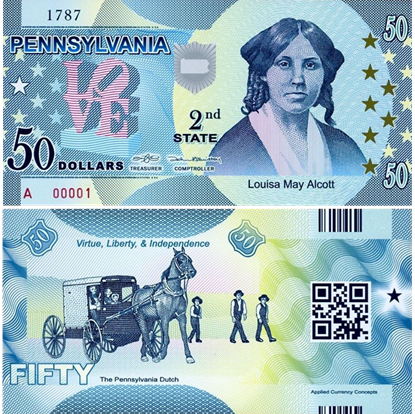Picture of US State Dollar,2nd state ,Pennsylvania,50 State Dollars