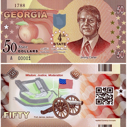 Picture of US State Dollar,4th State ,Georgia,50 State Dollars